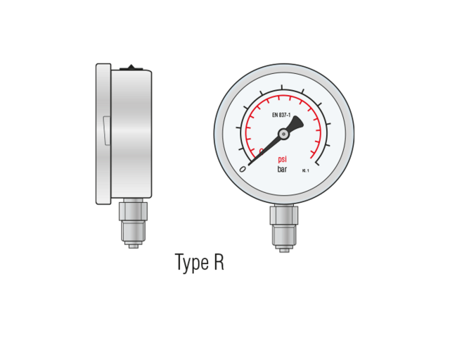 Mechanische Manometer Typ R_LR Germany